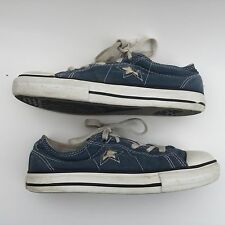 CONVERSE ALL STAR junior's  blue canvas walking shoes size--2