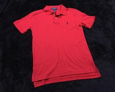 POLO RALPH LAUREN Boys Pullover Short Sleeve SHIRT SZ Medium 10-12 M Red NWT NEW