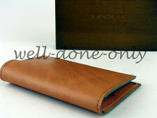 J.Fold Clearcut brown leather Mini Case card holder mens Minimalist Wallet gift