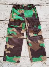 MINI BODEN Boys Green Brown Camo Techno Cargo Skate Pants 6 VGUC