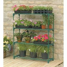 Patio Flower Pot Shelving Outdoor Greenhouse Plant Rack Deck Balcony Garden Grow