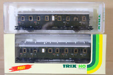 TRIX 23300 23301 DR DRG PERSONENWAGEN 2nd 3rd CLASS LOCAL COACH MAINZ ng