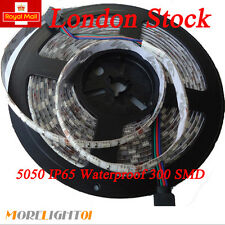 5M 300 leds 5050 RGB Flexible Strip Waterproof Adhensive Cutable Extention cable