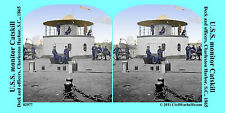 USS Catskill ironclad navy Monitor Civil War SV Stereoview Stereocard 3D 02977