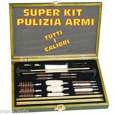accessori completi per pulizia armi tutti i calibri fucile pistola carabina