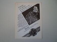advertising Pubblicità 1967 OROLOGIO BULOVA ACCUTRON ASTRONAUT