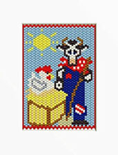 OLD BULL AND CUTE CHICK LIVE HERE BEADED BANNER PATTERN