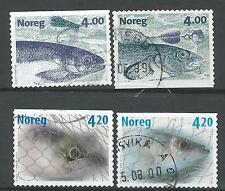 ˳˳ ҉ ˳˳NO24 Norway Norge Complete sets 1999-00 Different Fishes Marine Life