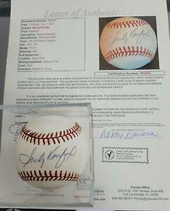 1989-1990 Sandy Koufax Single Signed ONL Baseball ... JSA Letter COA