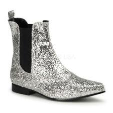 Stivali, anfibi e scarponcini da uomo Pleaser in argento