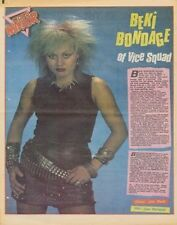 Vice Squad Becki Bondage Interview/article 1982