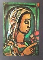 """Georges Rouault """"The Sibyl Of Cumes""""  Mounted Offset Color Lithograph 1971"""