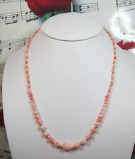 Genuine Natural Pink Coral Necklace With 14K GF Clasp. Graduated. MCR010