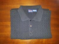 Pendleton Large L Black Long Sleeve Knit Mens Sweater