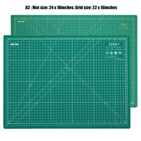 "ZERRO Self-Healing Cutting Mat Double Sided with Imperial/Metric 18"" x 24"" (A2)"
