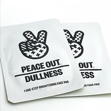 PEACE OUT Dullness 1 One Step Brightening Face Pad AHA BHA - 2 Pads Sealed