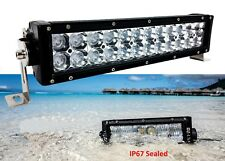 "12"" 3D 72w Light bar LED Cree Combo beam off road fog driving roof rack UTV ATV"