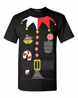 Elf Costume T-Shirt Santa's Helper Funny Holiday Christmas Festive Party Shirts
