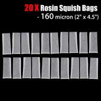 20 Pack 160u 2'' x 4.5'' Rosin Press Filter Tea Bags Nylon Mesh Micron   ↑