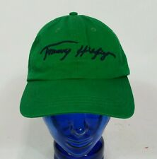 Vintage 90s Tommy Hilfiger Green Spell Out Signature Hat Cap Strapback