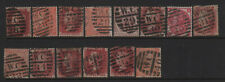 Great Britain London West Central District Numeral Cancel Collection All Diff