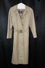 Vintage Women's BURBERRY Long Trench Coat, Size EXLPlus 10 (MEY)
