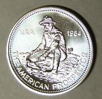 1984 Engelhard Prospector 1 oz .999 Fine Silver Round Big E Reverse (81718)