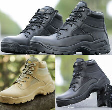 Men Army Tactical Suede Leather Ankle Boots Outdoor Military Combat Desert Shoes