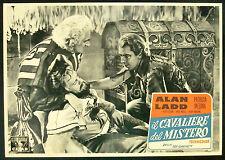 CINEMA-fotobusta IL CAVALIERE DEL MISTERO ladd,medina,andrews,cushing,GARNETT