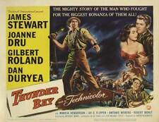 THUNDER BAY Movie POSTER 30x40 James Stewart Joanne Dru Gilbert Roland Dan