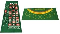 NEW BLACKJACK AND ROULETTE REVERSABLE FELT LAYOUT