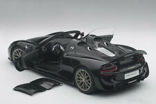 Autoart PORSCHE 918 SPYDER WEISSACH PACKAGE BLACK MET 2013 COMPOSITE 1/18 In Stk