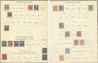 SCARCE PHILIPPINES STAMP LOT, 1899-1900 MINT/USED US SURCHARGE ON ALBUM PAGE