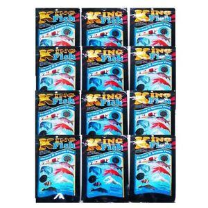 Dwarf Shrimp Crayfish Fish Food Kingfish Aquarium Tropical Bottom Flake 12 x 60g