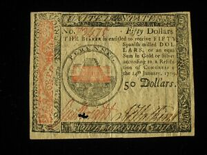US Continental Currency - $50 - January 14, 1779 ** CC-97 ** (CC-260)