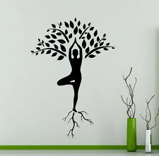 Yoga Tree Wall Decal Girl Roots Fitness Gym Vinyl Sticker Art Decor Mural (16yo)