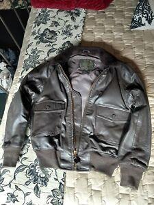 Sporty's Pilot Shop G-1 Goatskin Leather Flight Jacket USA Made 42