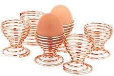 Set of 6 Copper Spiral Wire Egg Holder Serving Cups Sponge holders