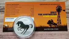 More details for 2017 perth mint stock horse 1oz silver bullion coin in capsule with coa