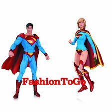 DC COMICS NEW 52 SUPERGIRL & EARTH 2 SUPERMAN AF ACTION FIGURE DC DIRECT