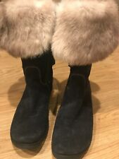 womens Nila& Nila Winter Boots Black Suede Size EUR38/ US7,5 Made In Italy