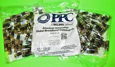 100 BELDEN PPC EX6XLPLUS SIGNAL TIGHT RG6 XL COAX CABLE CONNECTORS - 2 NEW BAGS