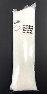 Ikea Slan Soft Bed Pillow Standard 20 x 26 Machine Washable - White
