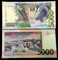 SAINT THOMAS - SAO TOME 5000 Banknote World Paper Money UNC Currency Bill Note