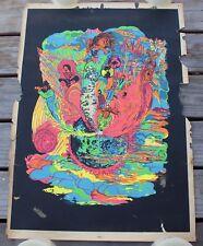 Rare Vintage San Francisco Speed Blacklight Poster Psychedelic Black Light 60s