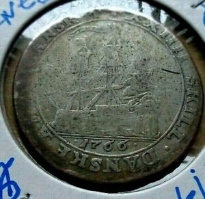 1766 Danish West Indies 24 skilling KM# 10