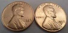 1957 P & D Lincoln Wheat Cent / Penny Coin Set (2 Coins)