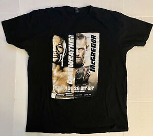 Men's 2017 Floyd Mayweather vs Conor Mcgregor PPV Boxing Fight Shirt | SIZE XL