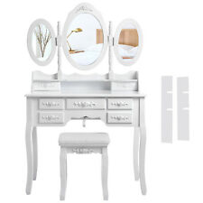Songmics toeletta tavolo Make Up Cosmetici specchiera con Specchio e Sgabello Rdt91w