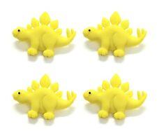 4 pcs. Stegosaurus Dinosaur Buttons Dress It Up Embellishment Set